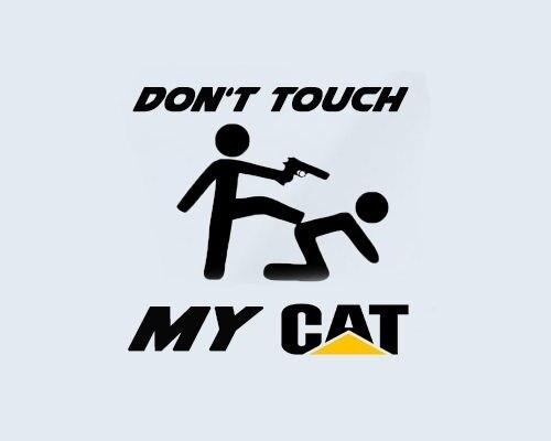 No toque mi gato Caterpillar ventana LKW Baumaschiene Bagger Aufkleber pegatina 15cm