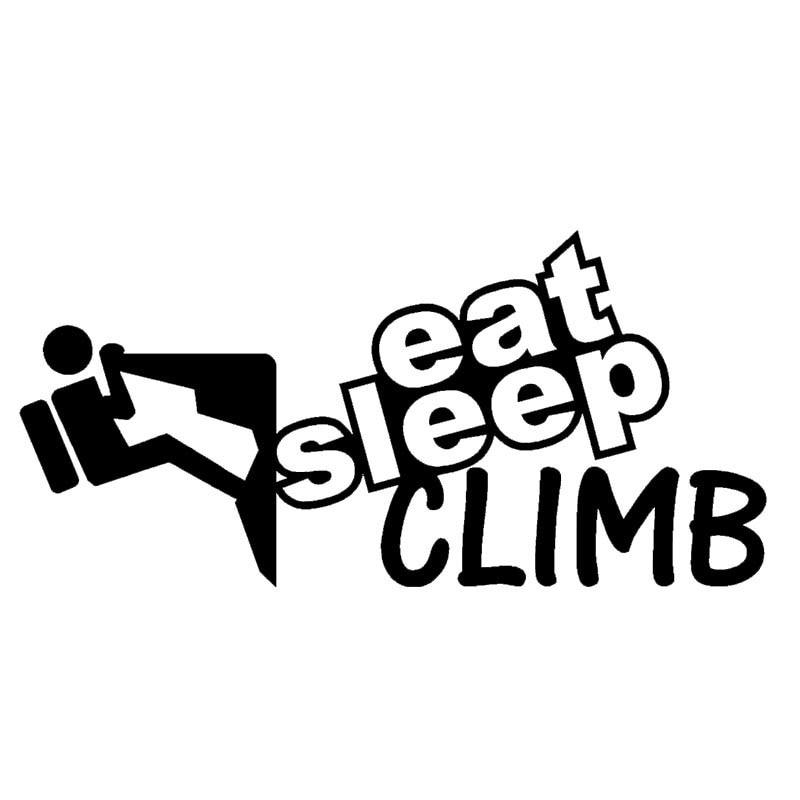 Eat Sleep Climb Mountaineering Outdoor Sports Enthusiasts Car Sticker SUV Door Laptop Kayak Funny Vinyl Decal