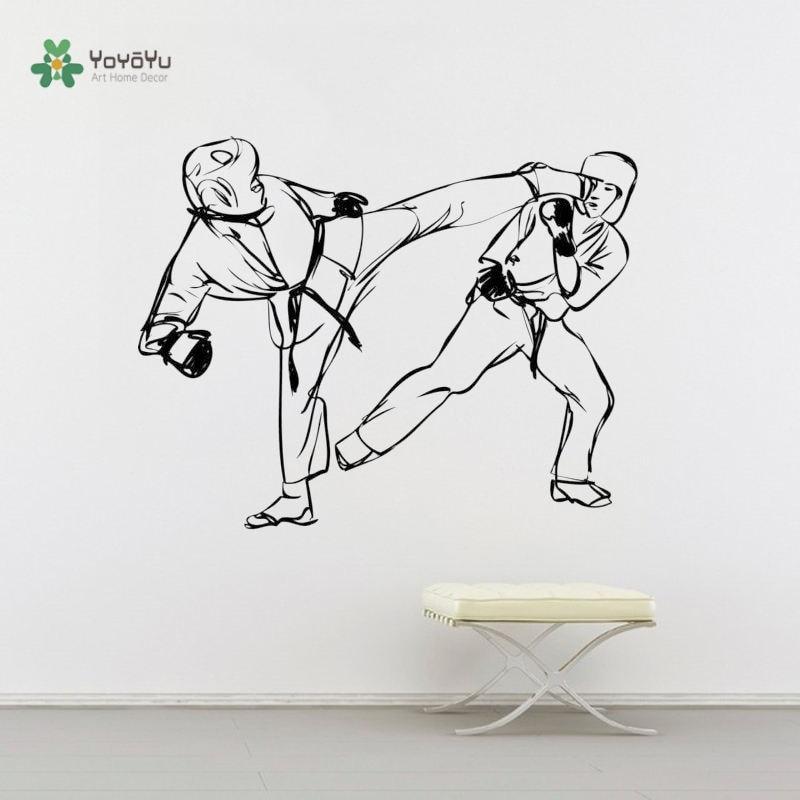 Настенная Наклейка yoyoyoyu наклейка на стену в стиле каратэ борьба Виниловая