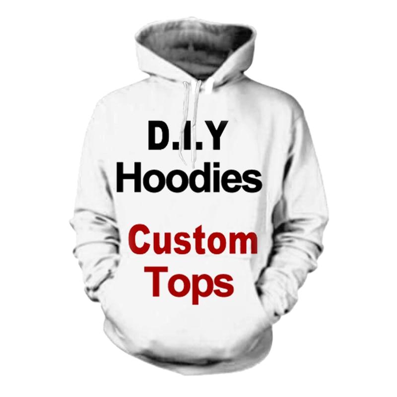 3D Druck Diy Custom Design Mens Womens Bekleidung Hip Hop Sweatshirt Hoodies Drop Verschiffen Großhändler Lieferanten Für Drop Verlader