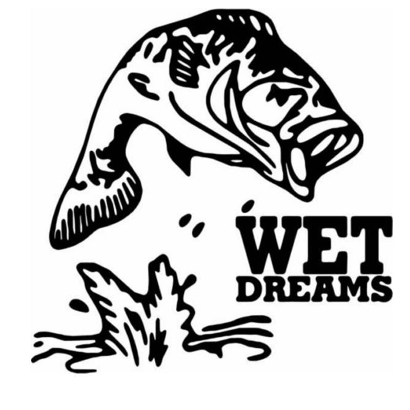 Pegatina de pesca para coche, bajo, pez, calcomanía, anzuelos, tienda de aparejos, carteles, calcomanías de vinilo para pared, pegatina Mural de decoración de cazador
