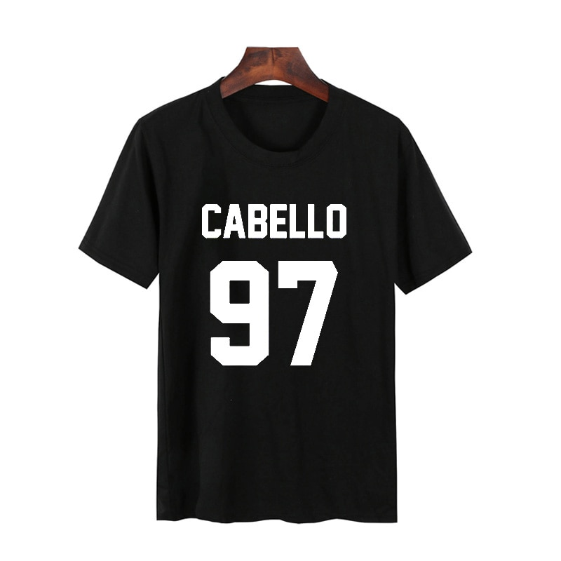 Pkorli Camila Cabello 97 Camiseta mujer Casual algodón manga corta Harmony Hipster calle Unisex gráfico Camiseta