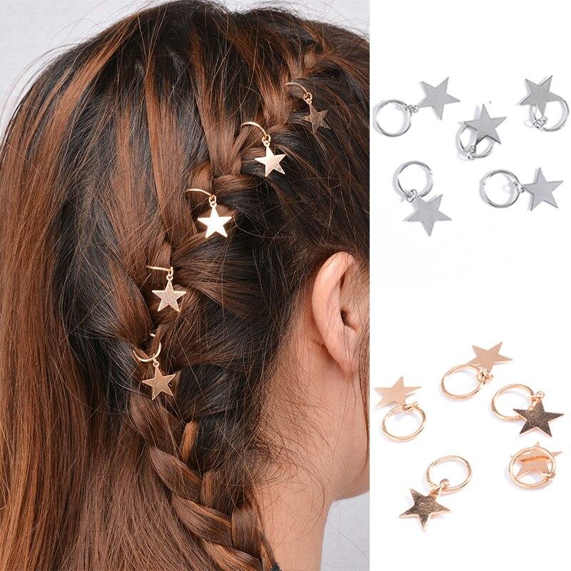 Venta de 10 estilos de horquilla plateada/dorada de moda para mujeres y niñas, carcasa de aleación cruzada con piedras, trenza trenzada, regalo ornamental
