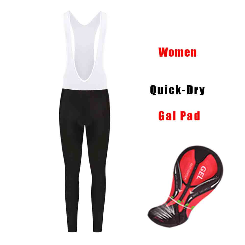 MTB pants lycra breathble women's cycling bib long trousers gal pad bicycle elastic sweatpants sport racing mountain bike tights