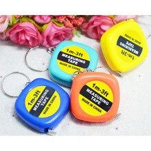 2 pièces/lot nouveau Mini règle rétractable ruban porte-clés mesure Portable tirer règle porte-clés couleur aléatoire