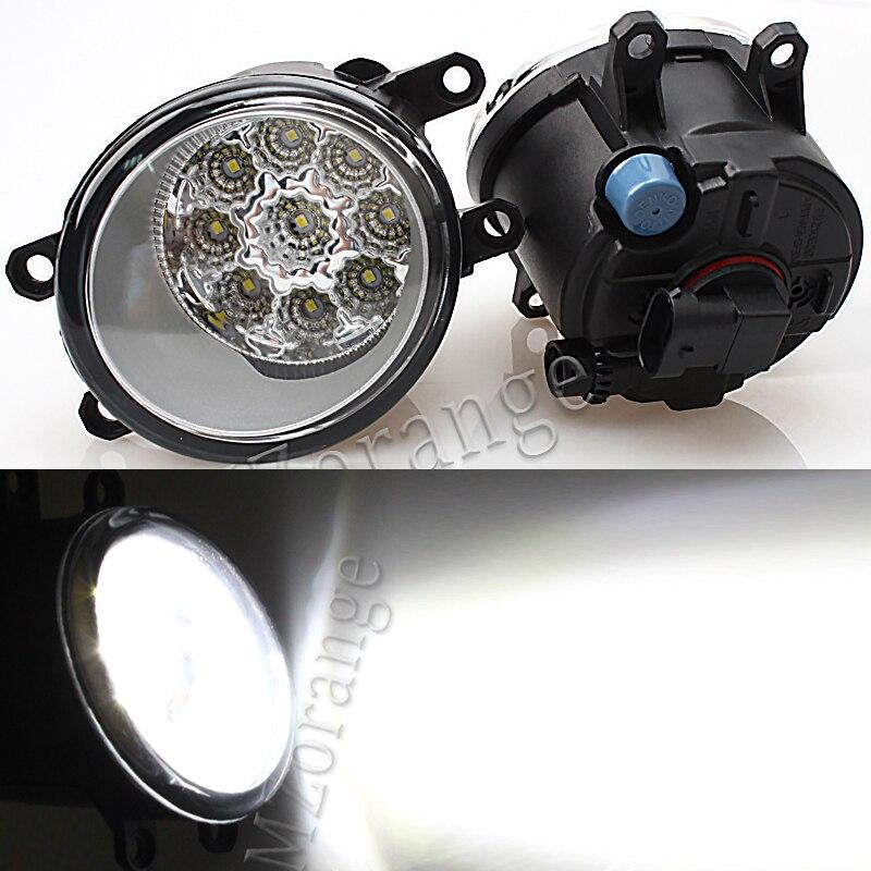 Luces antiniebla Led para TOYOTA Corolla AVENSIS AURIS RAV 4 2003-2015 para Toyota Fortuner 2015-17 luz antiniebla súper brillante