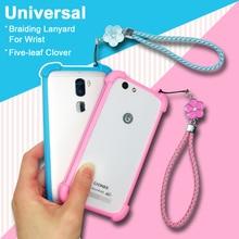 Vertex Impress Ra/Reef case Universal Soft TPU Hand Lanyard phone Cover For Vertex Impress Razor/Rosso case Lady Girl Female