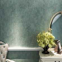 Bronzing Craft Nonwoven Emboss Wallpaper Vintage Blue Bedroom Living Room Wallpaper Roll