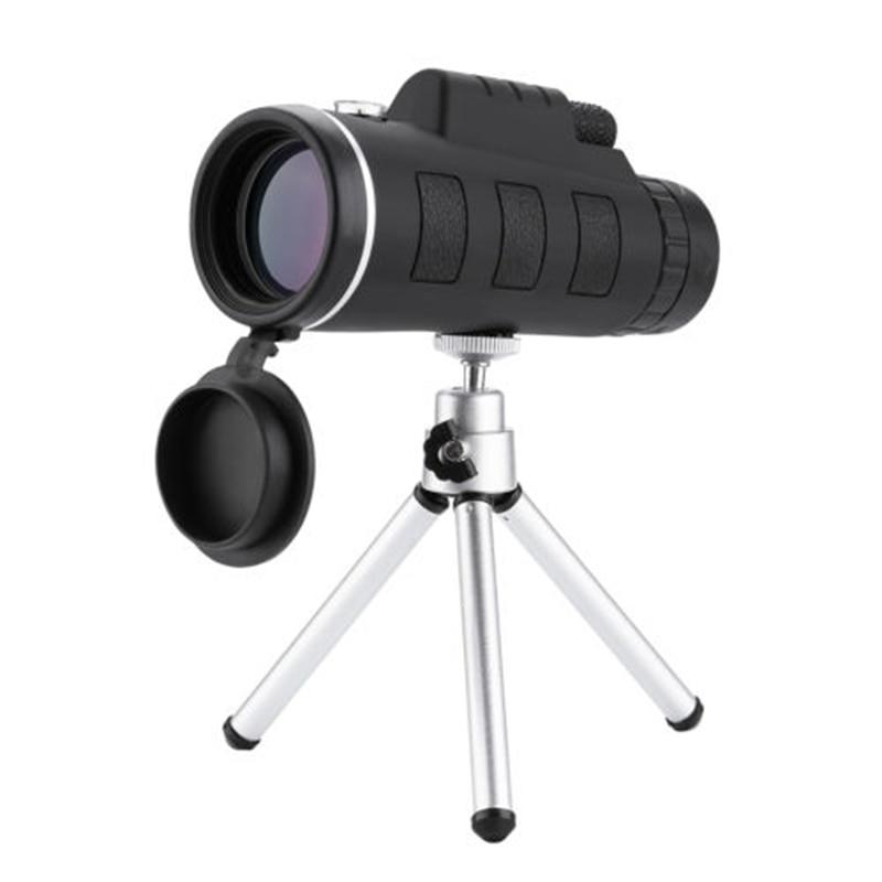 40X60 High Power Monocular Telescope HD Dual Focus Scope Monocular +Tripod+ Clip+Compass EDF88