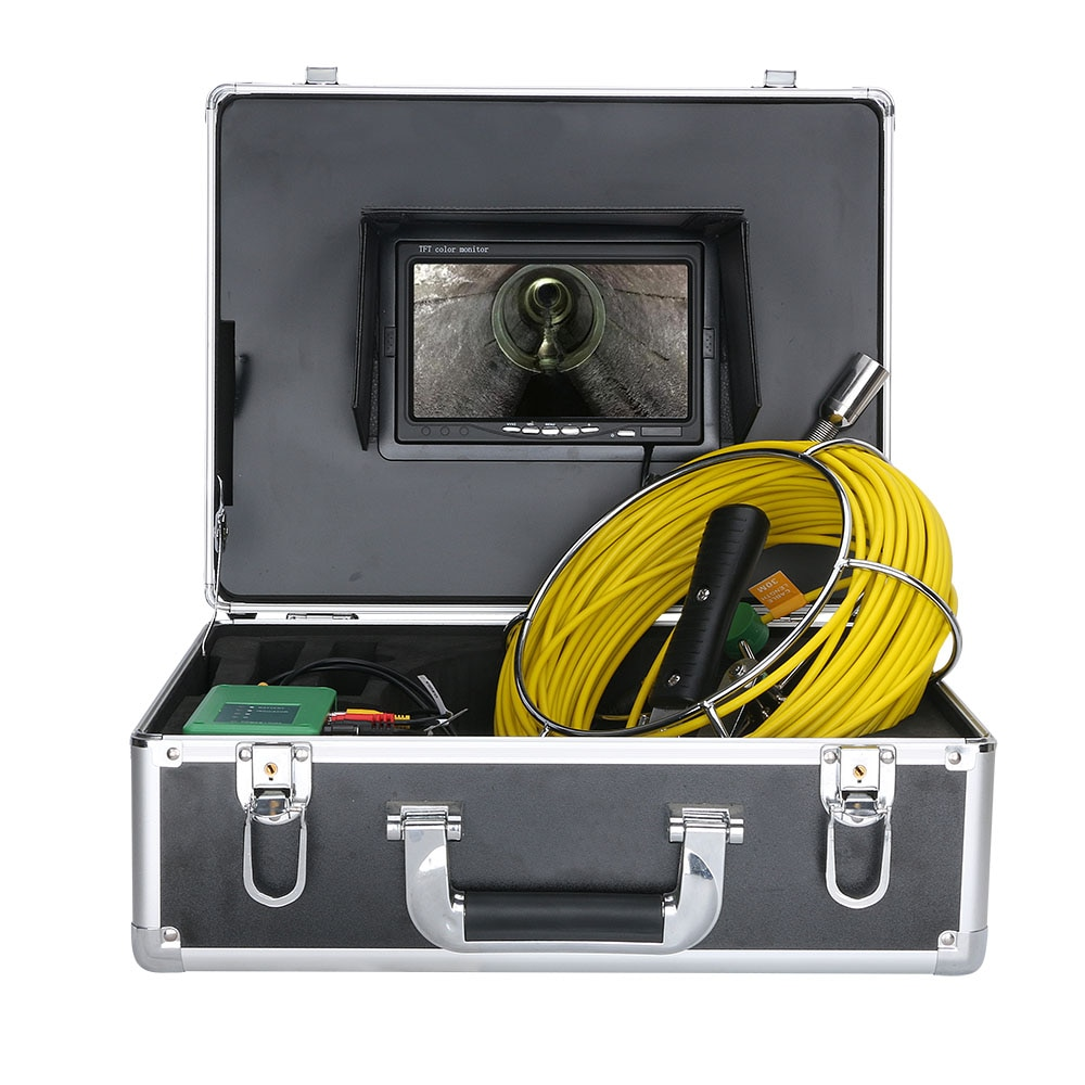 7 inch 17mm Industrial Pipe Sewer Inspection Video Camera IP68 Waterproof Drain Pipe Sewer Inspection Camera System