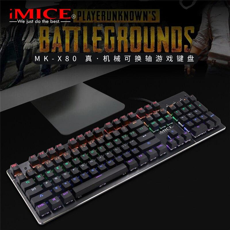 Apedra الألعاب لوحة المفاتيح 104 مفتاح لوحة المفاتيح الميكانيكية RGB الأزرق التبديل LED الخلفية USB السلكية الألعاب لوحة المفاتيح لأجهزة الكمبيوتر ا...