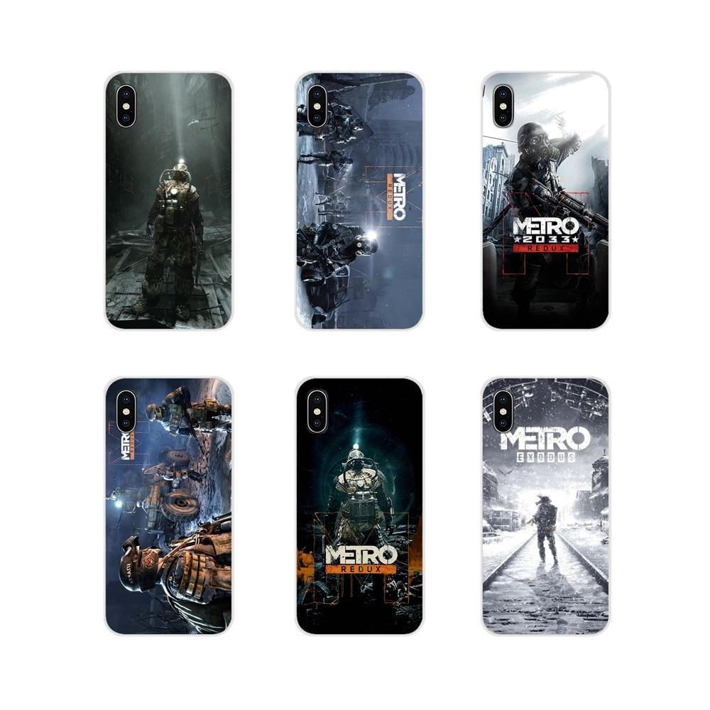 Accesorios teléfono casos cubre cartel juego Metro 2033 para Samsung Galaxy S4 S5 MINI S6 S7 borde S8 S9 S10 Plus nota 3 4 5 8 9