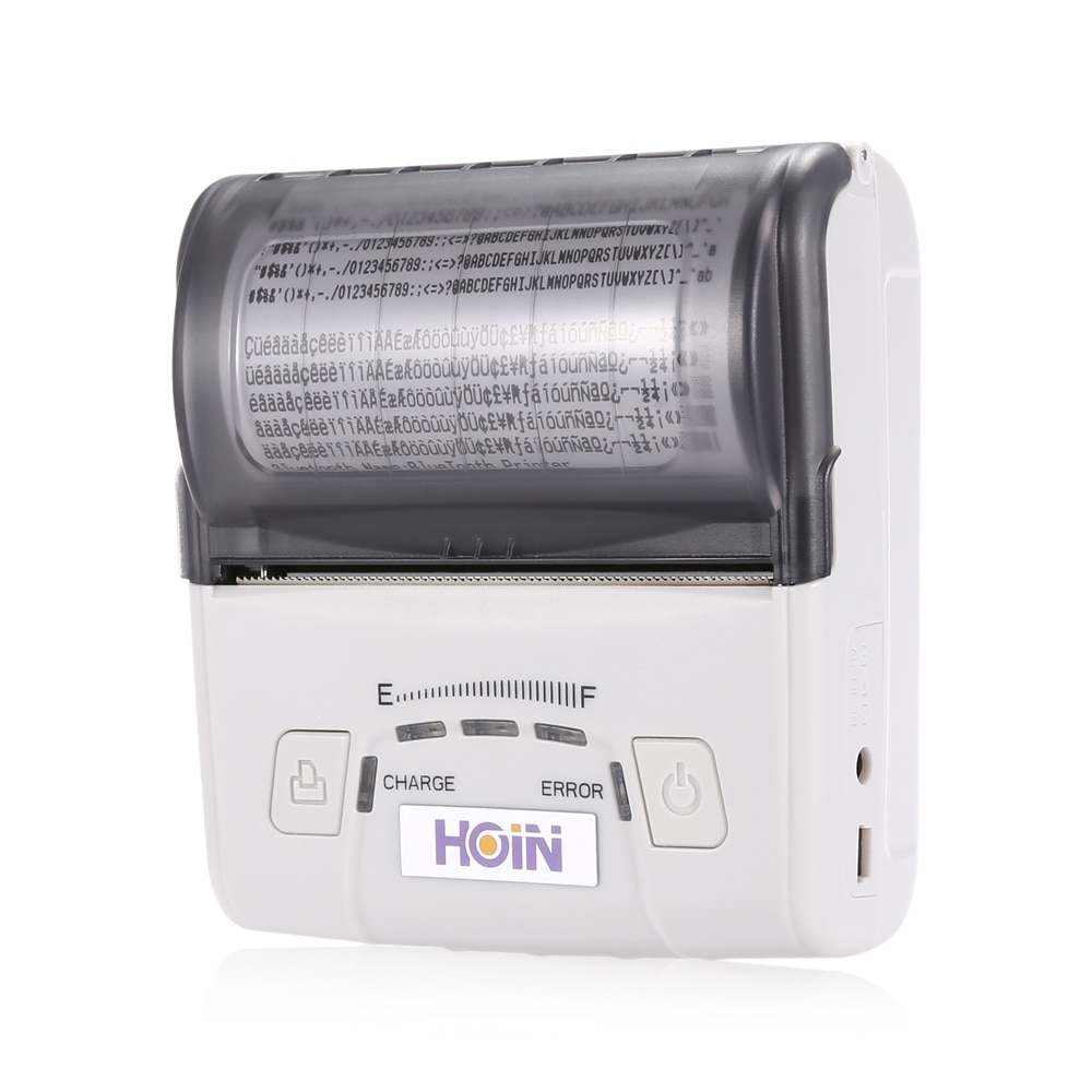 HOIN HOP-E300 USB/Bluetooth/WiFi portátil recargable impresora de recibos térmicos con cable/impresión inalámbrica POS