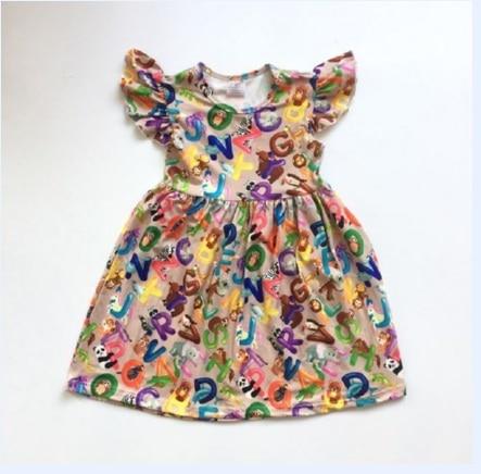Vestido de verano para niñas, ropa para volver a la escuela, vestido de panda para niñas, vestido de boutique para chica