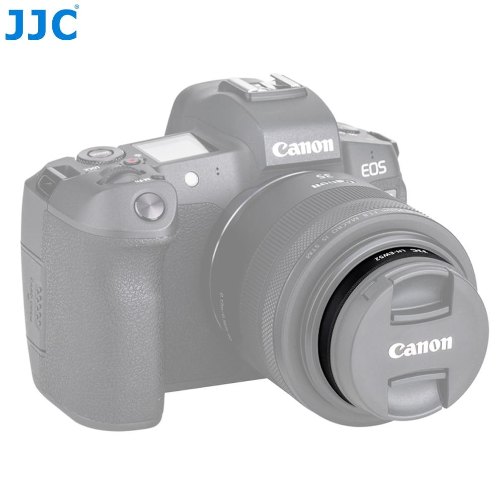 JJC LH-EW52 Kamera Objektiv Haube Für Canon RF 35mm f/1,8 Macro IST STM Objektiv Ersetzt Canon EW-52 kameras Zubehör