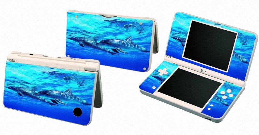 Delfín 025 Protector adhesivo de piel de vinilo para Nintendo DSI XL LL para NDSI XL LL pegatinas de pieles
