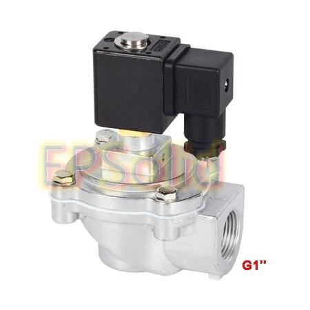Envío gratis 1 válvula de solenoide de pulso de 2 vías normalmente cerrada económica 120VAC, DC24V o AC220V DMF-Z-25J
