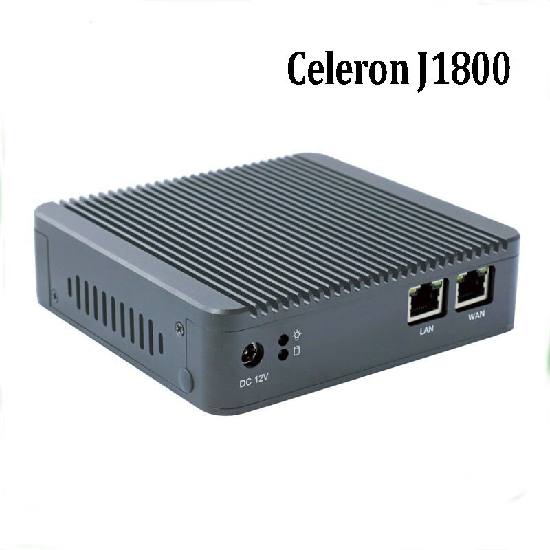 2017 Mais Novo Mini PC J1800 Dual Core Fanless Barato Tipos Firewall Pfsense 2 intel Gbe Nic Dupla Lan mini-pc com 4 GB de RAM 64 GB SSD