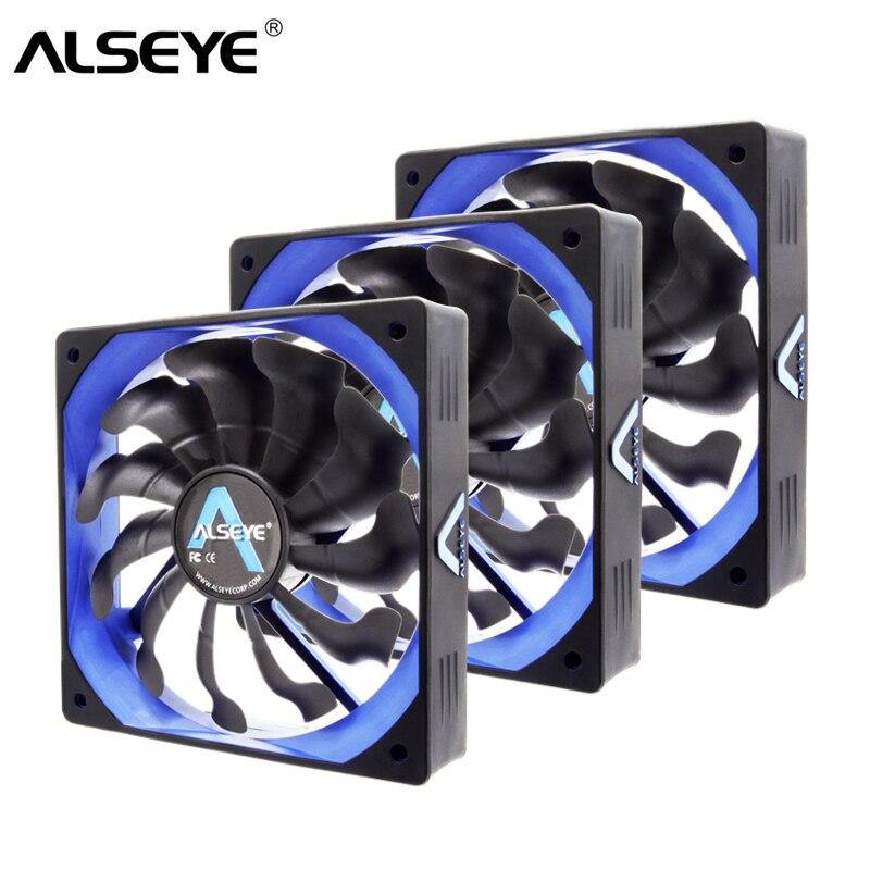 ALSEYE PC التبريد مروحة 120 مللي متر مروحة 12v PWM 4pin برودة (3 أجزاء/وحدة) سيليكون الصامت المشجعين ل PC حالة/وحدة المعالجة المركزية برودة
