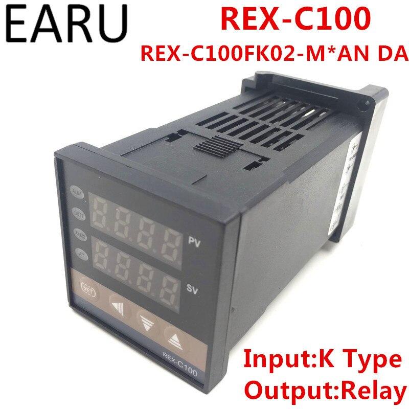 REX-C100 REX-C100FK02-M*AN DA Digital PID Temperature Control Controller Thermostat Relay Output K Type Input AC110-240V