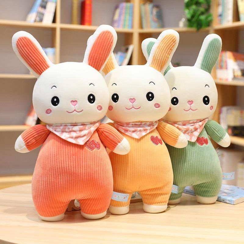 Sweet Rabbit Plush Toy Soft Cartoon Animal Bunny Stuffed Doll Children Kid Christmas Gift Baby Appease Sleeping Pillow Present недорого