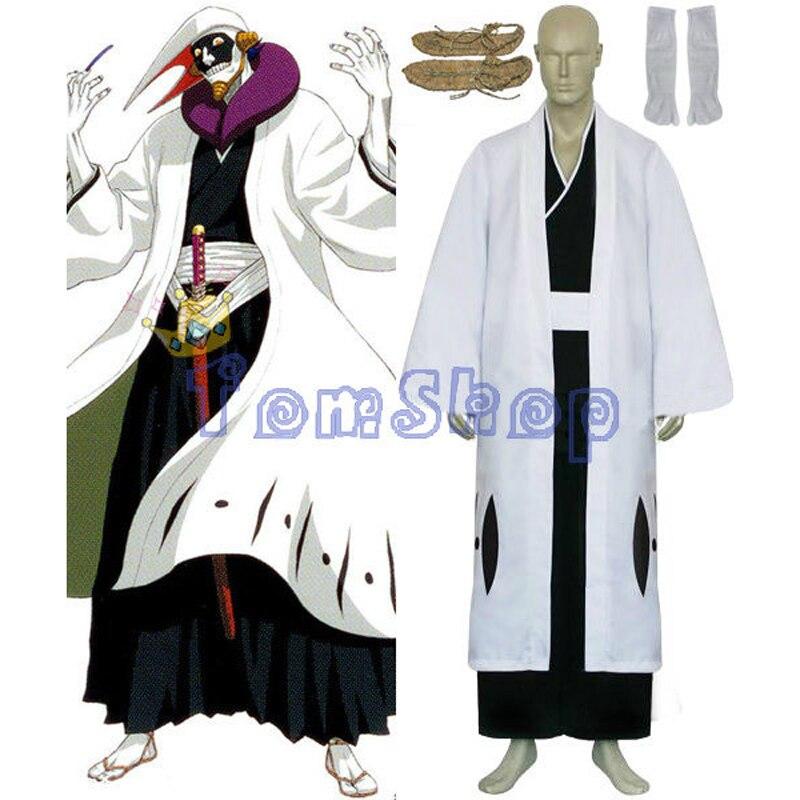 Bleach 12 División capitán Kurotsuchi Mayuri Cosplay Kimono uniforme traje hombres disfraces de Halloween hecho a medida envío gratis