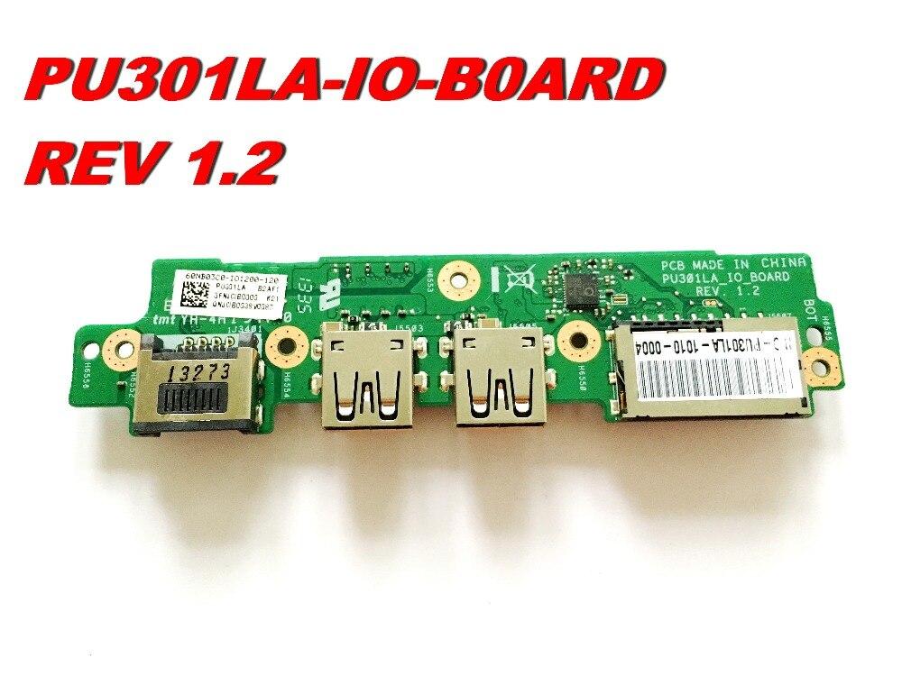 الأصلي ل ASUS PU301LA USB SD بطاقة مجلس PU301LA_IO-BOARD REV 1.2 اختبار جيد شحن مجاني