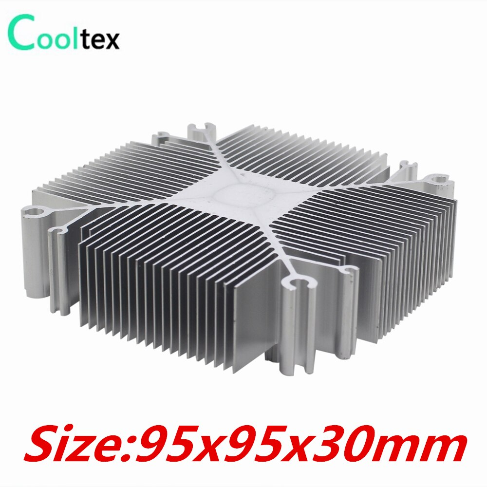 8pcs DIY  Pure aluminium Heatsink 30w-100w heat sink radiator for Electronic LED cooler cooling