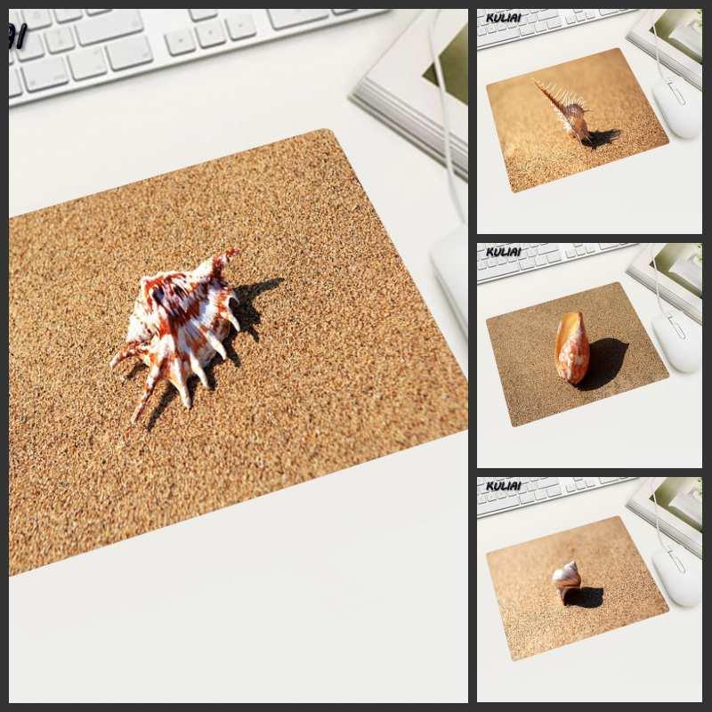 XGZ, concha de playa, papel tapiz, alfombrilla de ratón de goma Rectangular, duradera, adecuada para el jugador de ratón, mesa de oficina para portátil, alfombrillas de ratón Pc