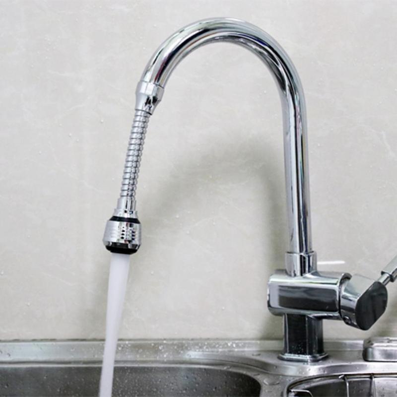 Filtro de agua de acero inoxidable grifo rotativo de 360 grados de ahorro de agua de grifo Bubbler boquilla de aireador electrodomésticos de cocina