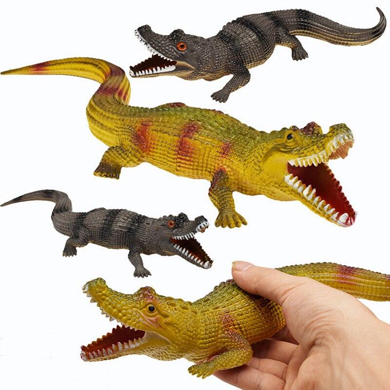 Juguete de simulación de cocodrilo, juguete de cognición animal, sonido para niños, ventilación, Juguetes Divertidos, figuras de Anime, navidad
