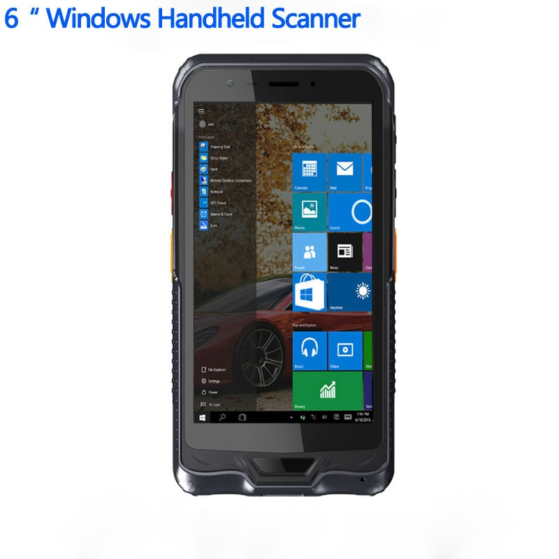 "Scanner de códigos de barras, de mão, pc, terminal 2d, bluetooth, aderência para pistola, 6 ""pda, windows 10, iot ip67, à prova d água, tablet android, android"