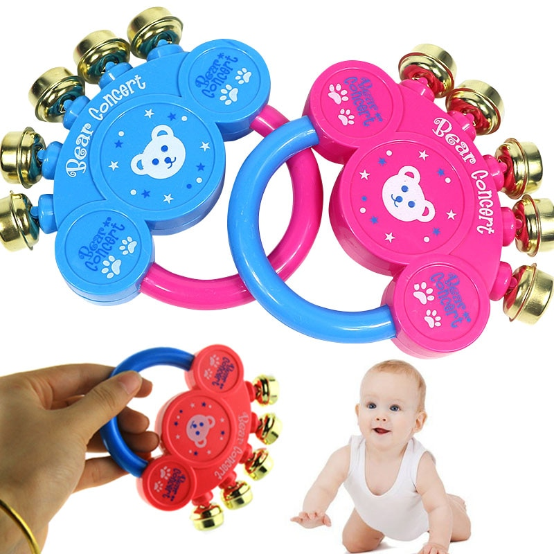 Hot Selling  Children Toys Lovely Kids Baby Handbell Musical Instrument Jingle Rattle Toy Best Gift 88