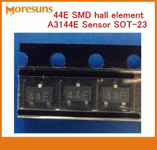 Fast Ship Grátis 100 pcs New originais SOT-23 SMD elemento salão 44E A3144E Sensor de grau industrial magnético unipolar interruptor sensível