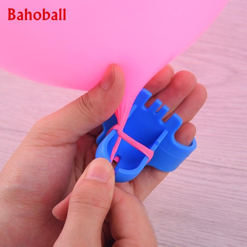 Nuevo 2 uds alta globo de calidad del atador de látex globos de fijación fácilmente nudo cumpleaños globo de fiesta accesorios Color al azar