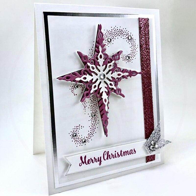7 teile/satz Sternenlicht schneeflocke Metall Schneiden Stirbt Schablonen Für Die Karte Dekorative Präge Anzug Papier Karten Stempel DIY