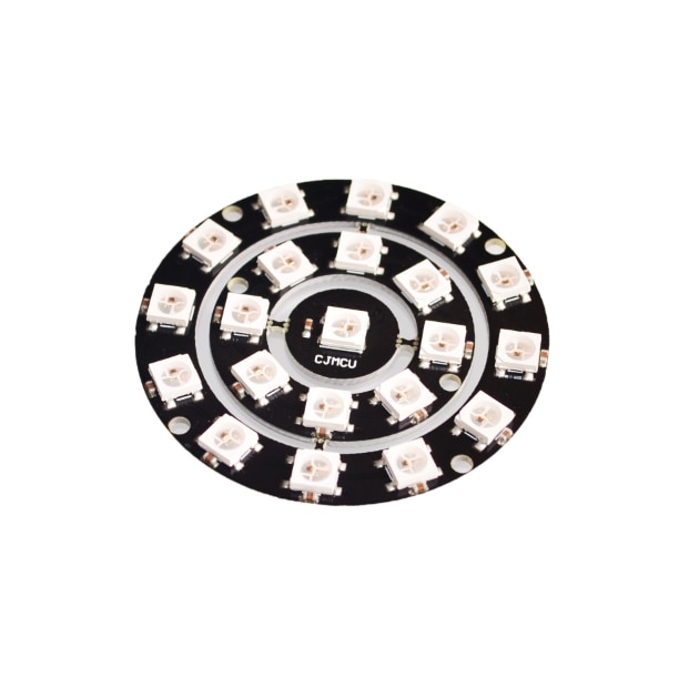 10 unids/lote RGB LED anillo 1/18/12 Bit WS2812 5050 RGB LED con Driver integrado triangulación de envío
