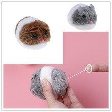 1 pièce Vibration souris Interactive chat jouets bébé Mini ligne de traction en peluche vibrer petit gros Rat simulé peluche chat jouet pour enfants