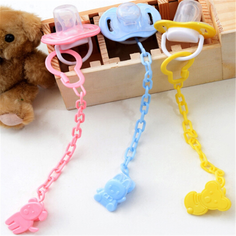 Baby care Pacifier Clip Baby Dummy Chain Feeding Product Animal Cartoon Baby Pacifier Anti lost Chai