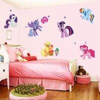Autocollants muraux de dessin anime mon petit poney  decoration de chambre denfant  dessin anime Animal licorne  Art Mural en Pvc  affiche de film  Stickers de maison