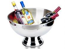 Bassin de grande taille en acier inoxydable   Épais seau à champagne de seau à glace, seau à glace pour le champagne bol à salade de fête