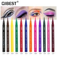 QIBEST 12 couleur imperméable à leau mat cosmétique pour les yeux crayon pour les yeux longue durée pas floraison oeil de chat charmant crayon pour les yeux crayon tslm2