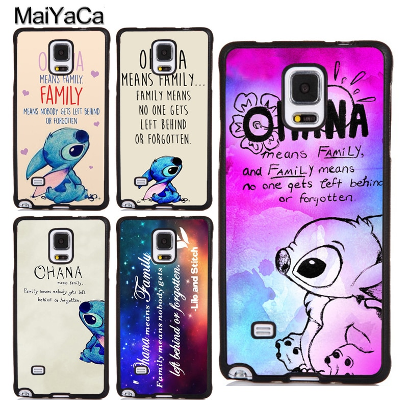 Ohana Means Family Paint Stitch Case or Samsung Galaxy A51 A71 S8 S9 S10 S20 Ultra S10e A10 A20 A30S A40 A50 A70 Note 10 Plus