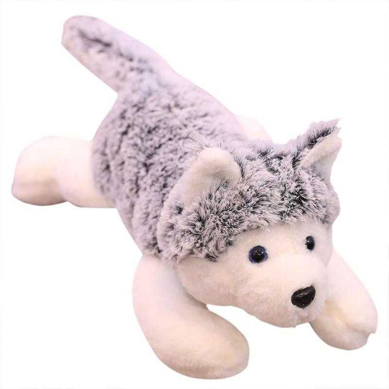 Kawaii Stuffed Toys 80 Hasky/100 cm Bonito Simulação Husky Dog Plush Toys Stuffed Boneca Crianças Brinquedos de Pelúcia Do Bebê husky Bonecas