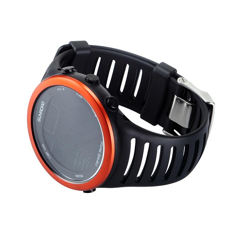 Sunroad Digital Sport Watch Multifunction Waterproof Barometer Altimeter Thermometer Fishing Wristwatches For Men Reloj Hombre enlarge