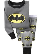 Batman menino pijamas terno super herói manga longa pijama crianças pijamas roupa de dormir em casa 100% algodão