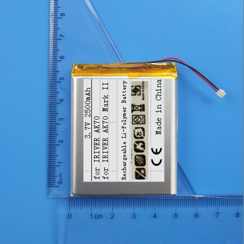 Battery for IRIVER Astell&Kern AK70 & Mark II Player MarkII New Li Polymer Rechargeable Accumulator Replacement 3.7V 2500mAh