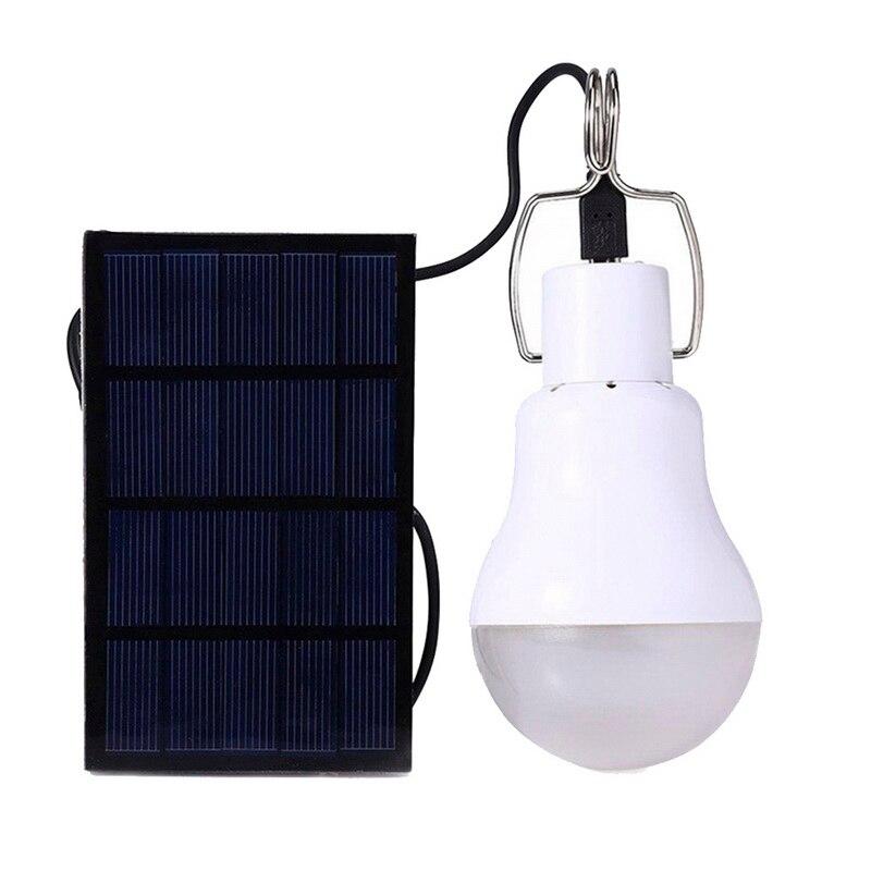 Solar al aire libre de luz móvil portátil lámpara de emergencia para colgar bulbo Sensor Lámpara de energía Solar Led iluminación USB recargable