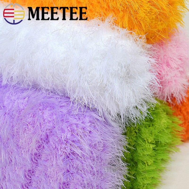 Meetee 3 rollos hilo de terciopelo Coral tejido a mano lana de piel sintética gruesa para bebé bufanda sombrero ropa abrigo guantes DIY artesanías tejidas YN201