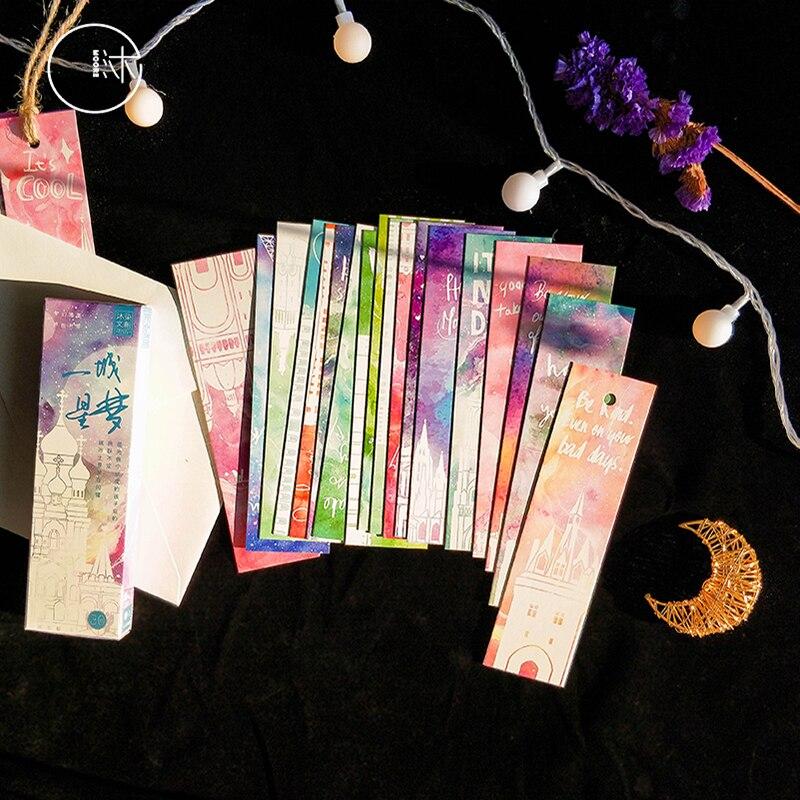 30 unidades/pacote kawaii pintados à mão flor fresca ilustração em forma de marcador papel dos desenhos animados presente papelaria marcador de papelaria